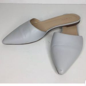 💉J. Crew Harper Gray Leather Pointed Toe Mule